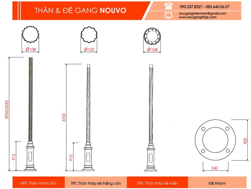 cột đèn chiếu sáng Nouvo