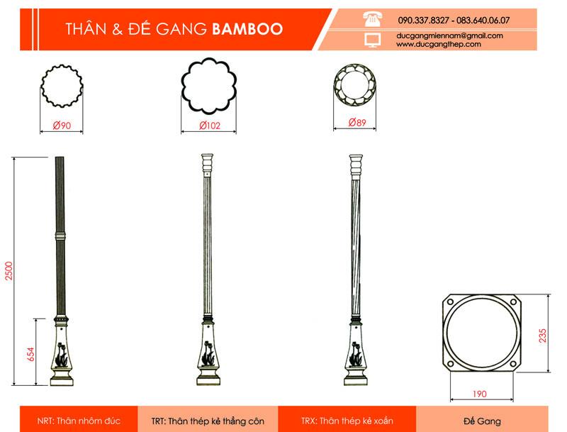 trụ đèn bamboo